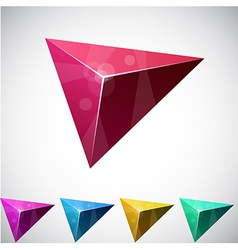 Triangular vibrant pyramid vector