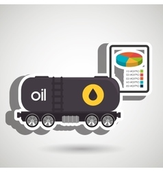 truck petroleum isolated icon design vector image