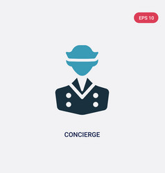 two color concierge icon from professions concept vector image