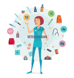 Veterinarian round composition vector