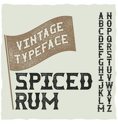 Whiskey fine label font vector