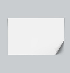 White clear a4 paper sheet with shadow vector