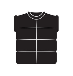 Winter vest image vector