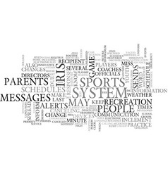 youth sports schedules alerts keep parents in the vector image