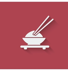Asian food design element vector image