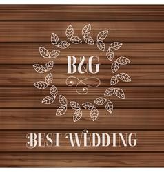 Best wedding label vector image