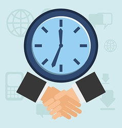 business time vector image