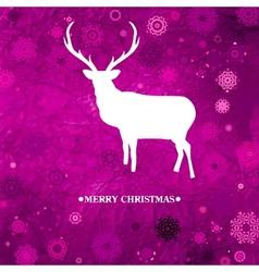 Christmas reindeer card vector image