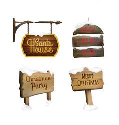 Christmas signboards set vector