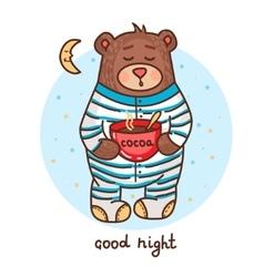cute teddy bear 1 vector image vector image