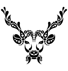 Deer tattoo symbol decoration vector image vector image