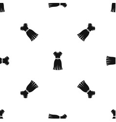 dress pattern seamless black vector image vector image
