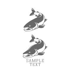 icons salmon vector image