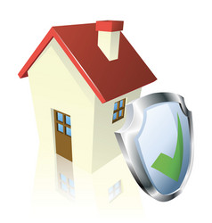 secure house concept vector image vector image