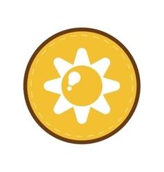 Sun energy natural symbol design yellow circle vector