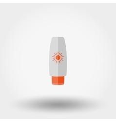 Sunscreen cream icon Flat vector image