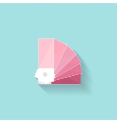 Color palette guide in a flat style digital vector