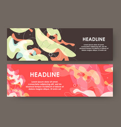 creative layout with spotted background modern vector image