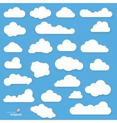 Flat design clouds vector image