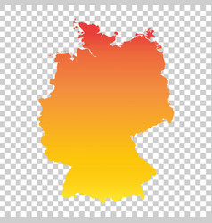 germany map colorful orange vector image vector image