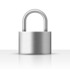 realistic closed padlock vector image