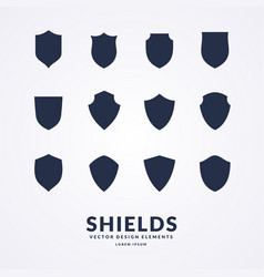 set of different shields templates for design of vector image