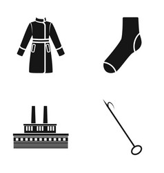 Clothing fashion and or web icon in black style vector
