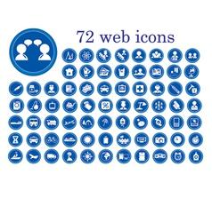 stylized web icons vector image vector image