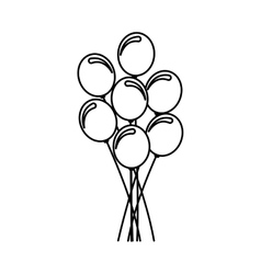 balloons air party icon vector image vector image