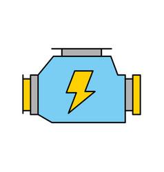 Car carburetor powerful engine machine symbol vector