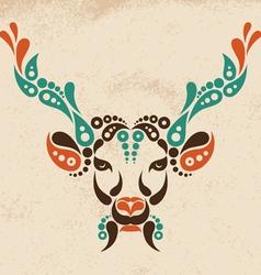 Deer tattoo symbol decoration vector image