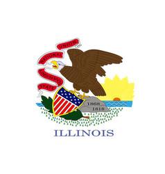 flag of illinois usa vector image vector image