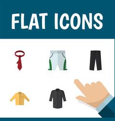 Flat icon dress set of trunks cloth uniform vector