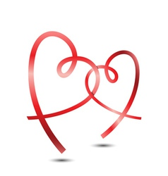 Stylish Ribbon Hearts vector image vector image