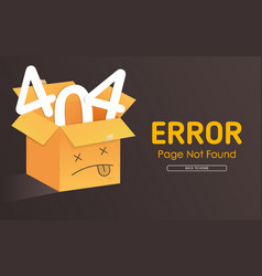 404 box face vector image