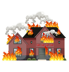 Fire building. Clipart vector images