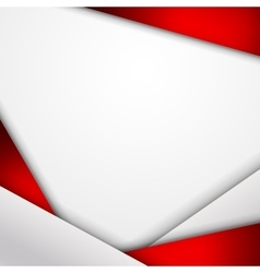 Abstract background of red and white origami paper vector