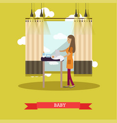Baby concept in flat style vector