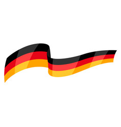 banner german flag colors vector image