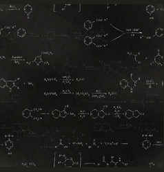 basic chemical reaction equations and formulas vector image