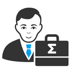Bookkeeper flat icon vector