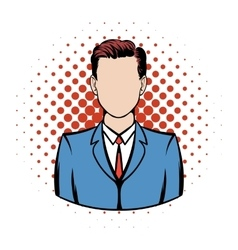 Businessman comics icon vector image