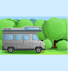 camper truck concept banner cartoon style vector image
