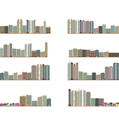 City landscapes collection vector