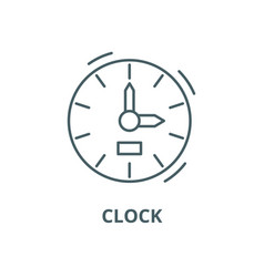 clock line icon clock outline sign vector image