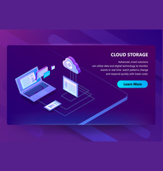 cloud storage web technology vector image
