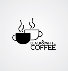 coffee cafe sign logo theme vector image