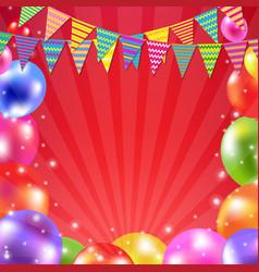 color balloon banner vector image