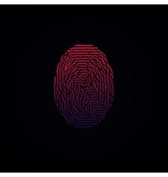 Colorful Fingerprint Red Pink on dark background vector