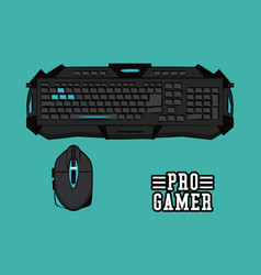 computer gamer equipment vector image